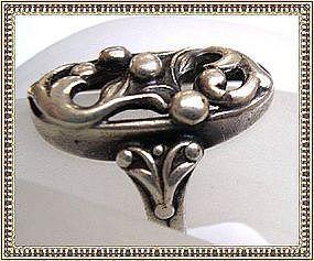 Vintage Signed �M� Danish Sterling Silver Ring