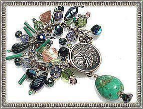 Each Signed Charm Bracelet Old WW Military Brass Eagle Button