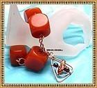 Signed Big Bold Bakelite Hand Hammered Copper Bracelet