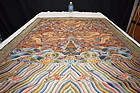 Antique Chinese prince's embroidered silk robe panel