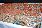 Antique Chinese embroidered red silk panel- Dragons