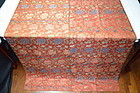 Antique chinese red silk tapestry - Peony&vine broacade