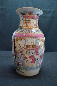 Antique Chinese famille rose porcelain vase,19th C