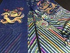 Antique Chinese embroidered summer dragon silk robe, Jifu, Details 2
