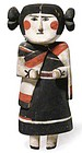 Large Hopi Polychrome Wood Female Figure