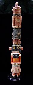 Hopi Polychrome Kachina Figure Group