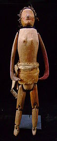 Rare Southeastern Wood Articulated Doll