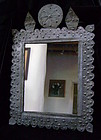 New Mexican Stamped Tin Retablo with Mirror