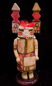 Hopi Tewaquaptewa Kachina w/ Vertical Tableta