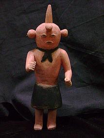 Hopi Polychrome Kachina doll Koyemsi, The Mud Head Clown