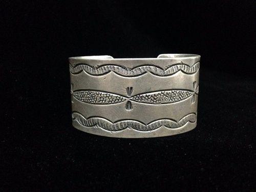 Navajo Coin Silver Bracelet