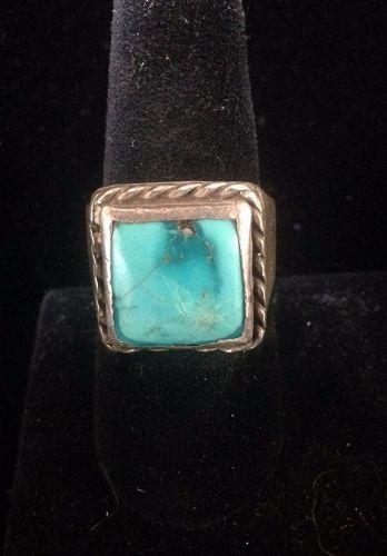 Men's  Navajo Turquoise  Single Shank  Ring