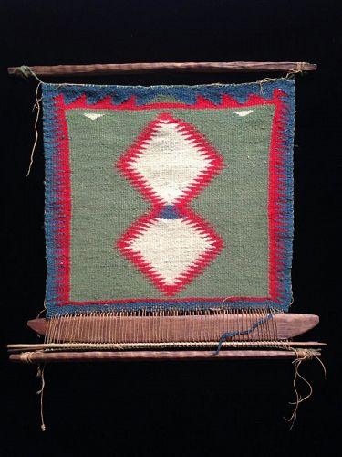 Navajo Germantown Sampler on a Loom