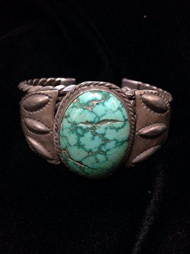 Navajo Coin Silver Bracelet ca. 1920-30