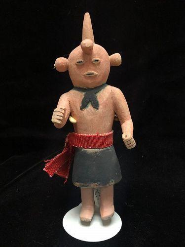 Hopi Polychrome Wood Katsina Doll Koyemsi The Mud Head Clown