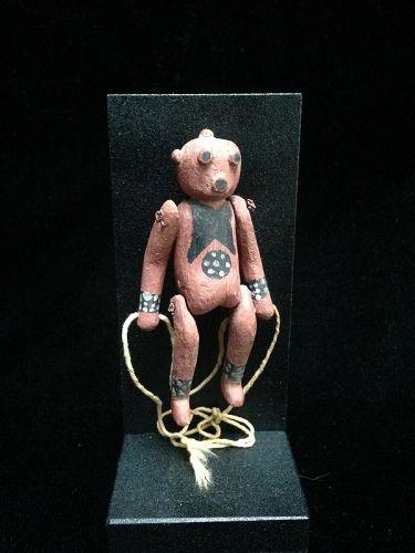 A Rare Miniature Hopi Puppet Koyemsi The Mud Head Clown