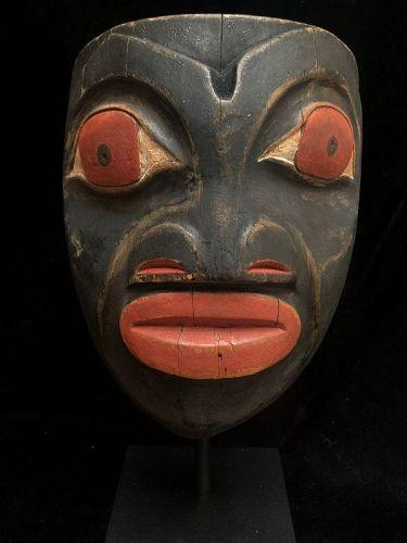 Northwest Coast Kwakiutl or Bella Bella Wood Mask