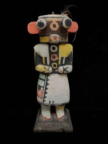 Rare Hopi Polychrome Wood Katsina