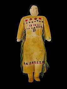 Southern Plains Beaded Hide Doll