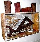 """Alan Kessler """"S-51 Please Return Box"""" Oil on Wood"""