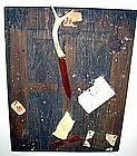 "Alan Kessler ""Hanging Antler Knife"" Oil on Wood"