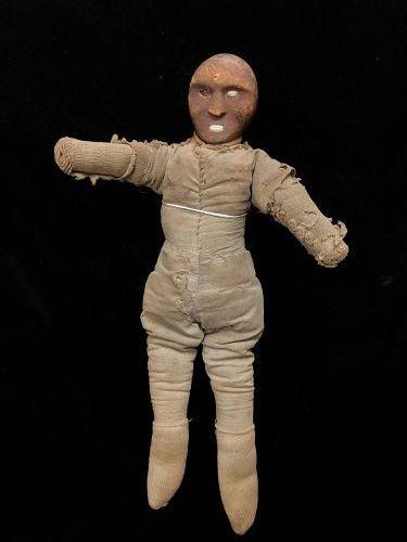 """""""Rare Eskimo Wood Shaman's Doll c.1860-80"""""""