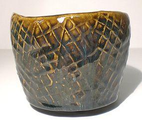Haiyu & Temmoku Wandering Lip Tataki teabowl (1109tb)