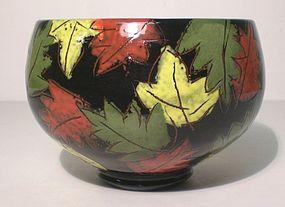 "Terra Cotta ""Falling Leaves"" Teabowl (1136tb)"