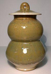 SAFFRON WASP-WAISTED HAKEME COVERED JAR