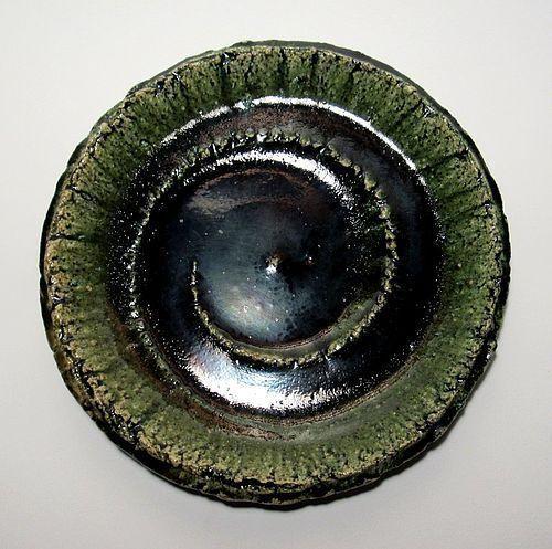 BOLD ORIBE SWIRL PLATE BY YAMAGUCHI YOSHINARI