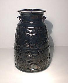 Temmoku Masame Textured Vase
