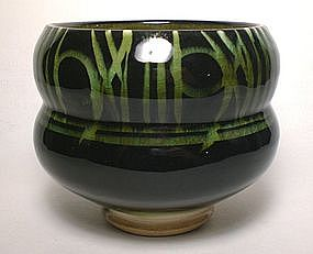 Rozome Stacked Stone Chawan