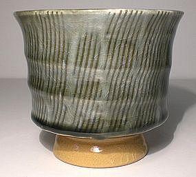Ao Glazed Shono Pattered Teabowl (C)