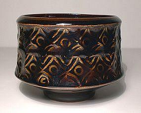 Broad Temmoku Impressed Teabowl