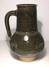 Medieval Style Stamped Ao-glazed Jug
