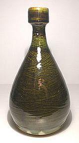 Medieval Green Hakeme Bottle/Vase