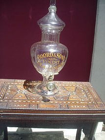 English Cut Crystal Unsweetened Gin Dispenser ca 1900
