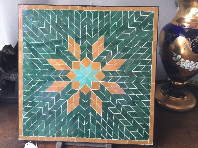 Syrian Islamic Mosaic Geometric Ceramic Tile