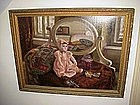 Painting, Doll in Pink-Hungarian-1920s