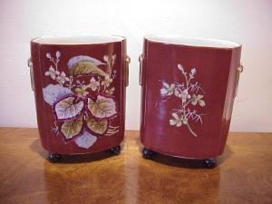 Old Paris Vases, Pair 100yrs French