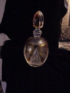 Heavy cut crystal decanter