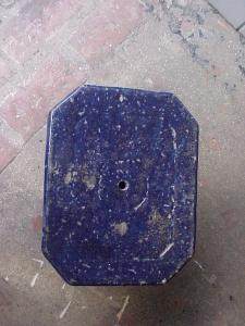 Chinese Glazed Terra Cotta Stand-blue 19th c