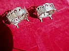 Pr French Silver Salts Marked ca 1880s