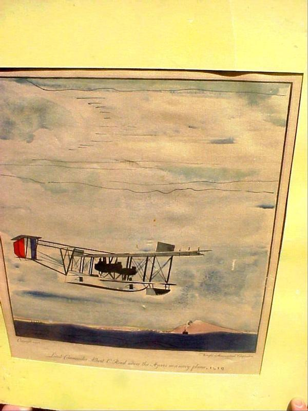 Hand-colored Litho-Aviation Sgnd Lemon