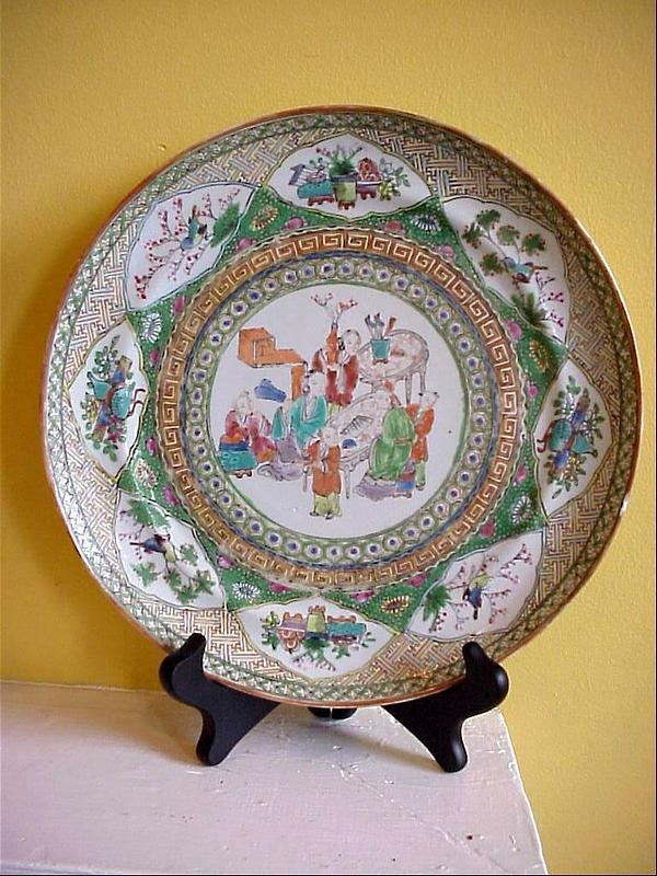 Elaborately Decorated Mandarin Plate 1830s