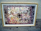American Abstract Colored Ink Drawing 20thc Sgnd