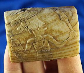 "Unique Pre-Columbian 2 1/4"" Shell Carving"