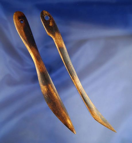 Pair of ornate bone tools found in Alaska permafrost, pictured