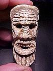 Mayan Bone Carving of Old God