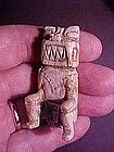Seated Carved Bone Chief Chimu Peru 950AD